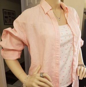 Pink, Lauren Ralph Lauren, Button Down Shirt